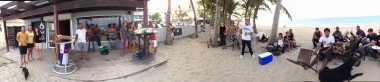 Our kiteboarding center and beach panorama