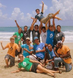 "Team LEK: LEK's awesome team (minus a few key players) horsing around after a team meeting in our ""office"" - gorgeous Cabarete Bay Dominican Republic"