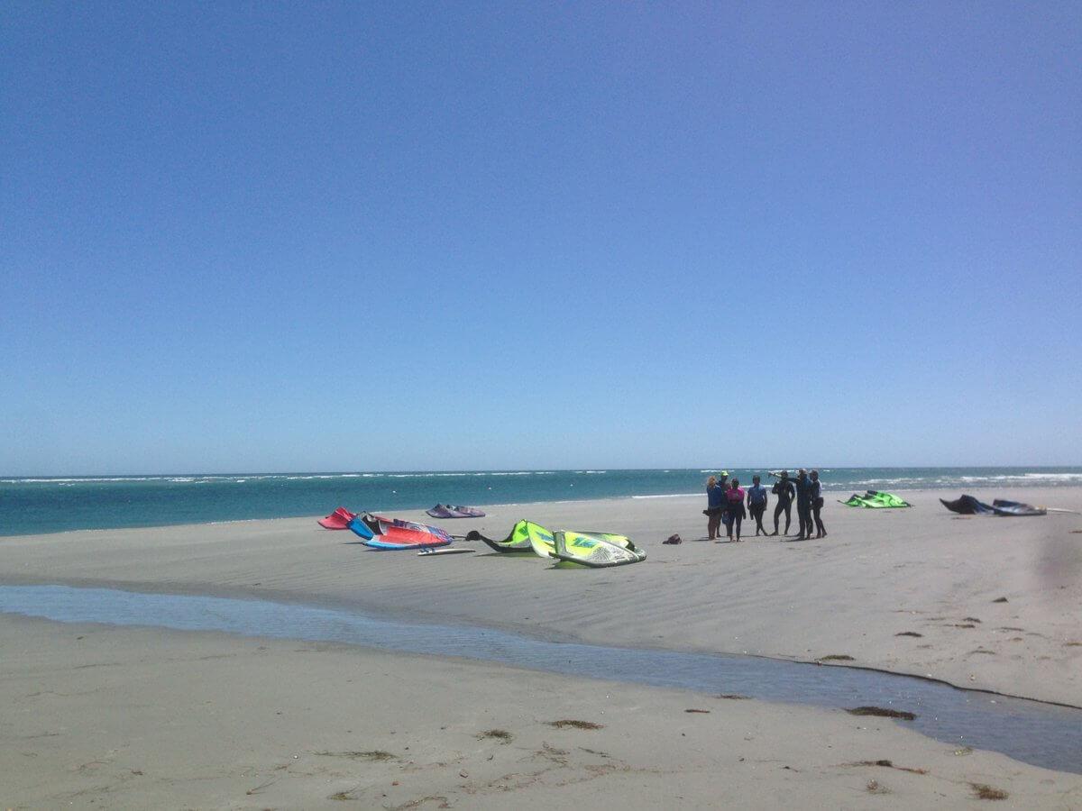 Kitesurfing Beach Launch at the KB4girls Women's Wave Retreat