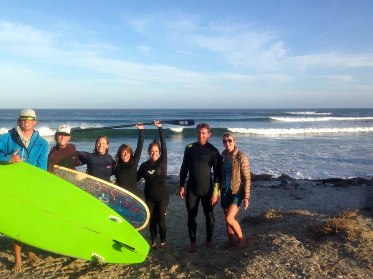 Kitesurfing Women's Retreat Ladies SUP and Surfing in Baja