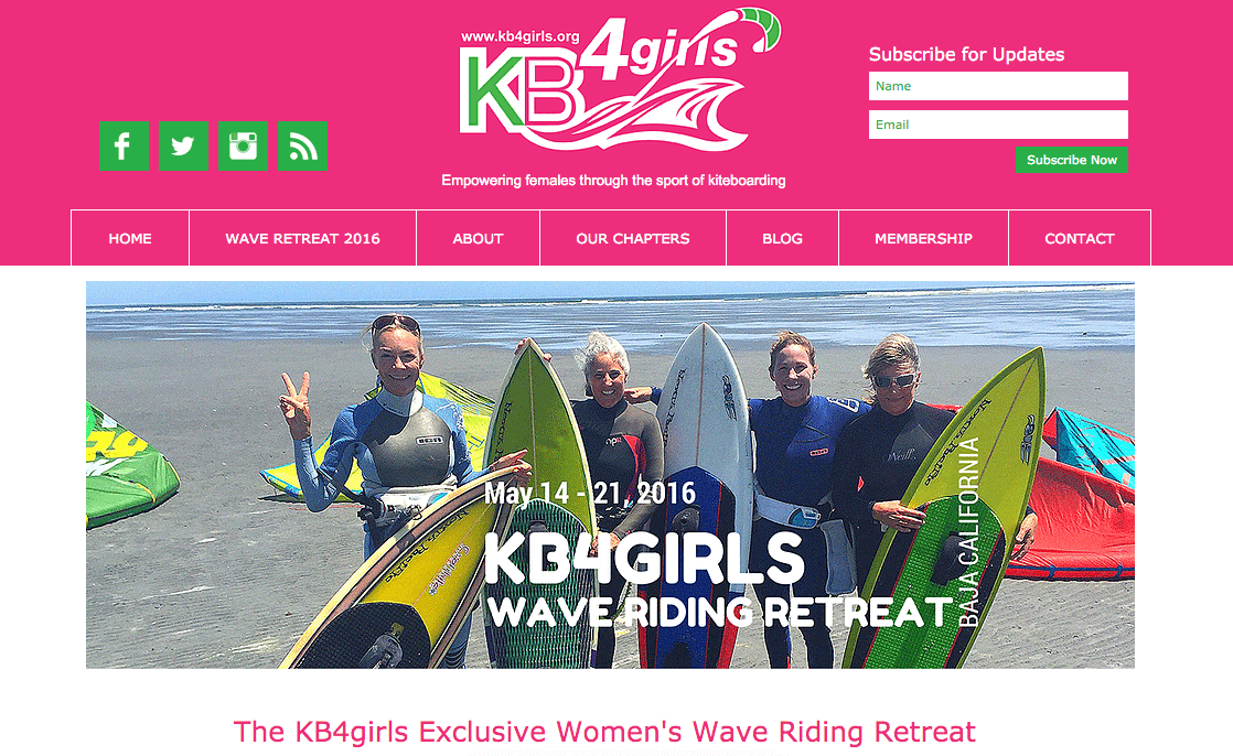 KB4girls Foundation Women's Wave Riding Retreat
