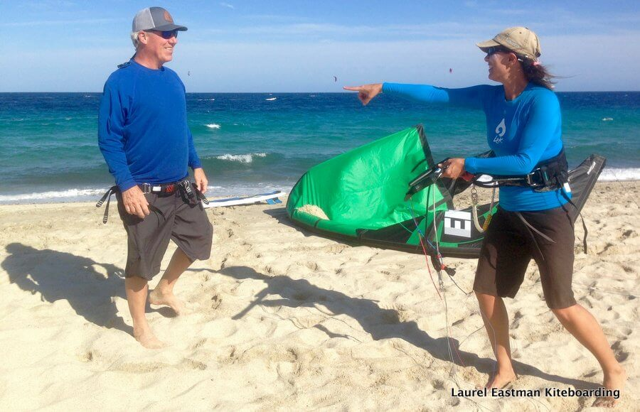 Ask a great kiteboarding friend to help your kiteboard launch