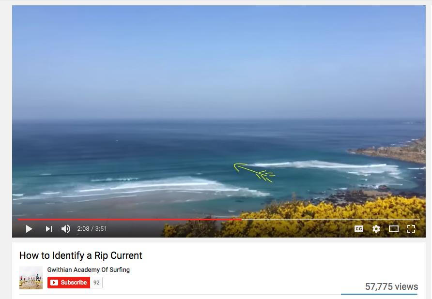 Rip Current ID Video Screenshot