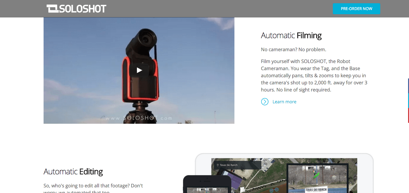 Soloshot 3 Robotic Cameraman
