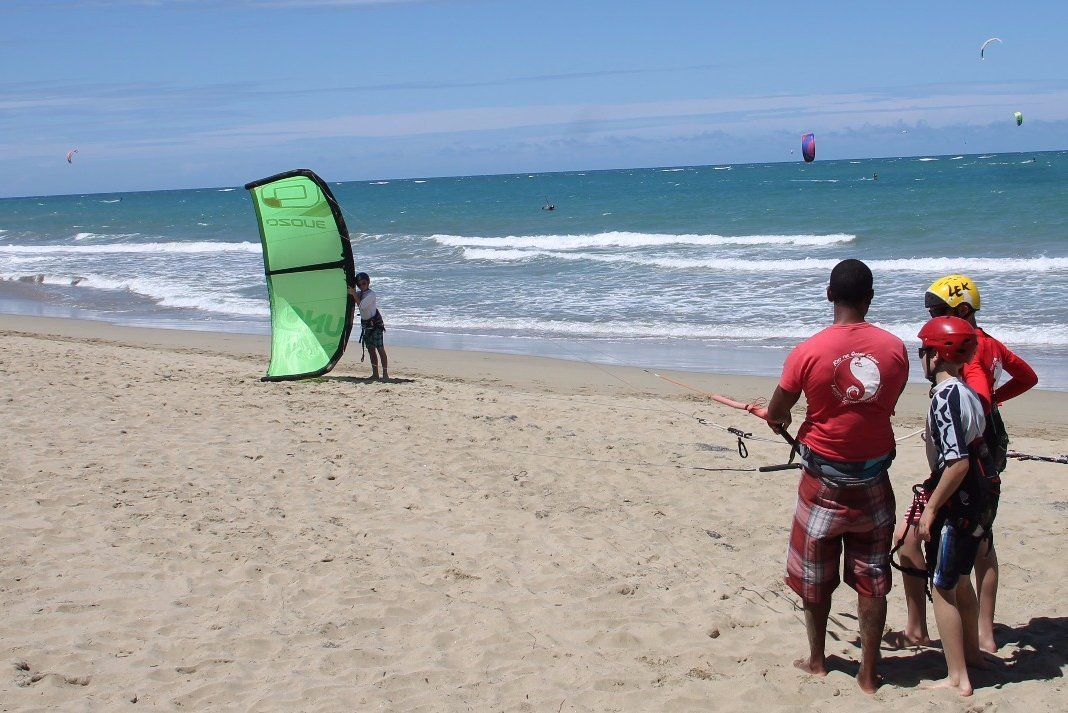 Kiteboarding Lesson at LEK Laurel Eastman Kiteboarding Cabarete Dominican Republic