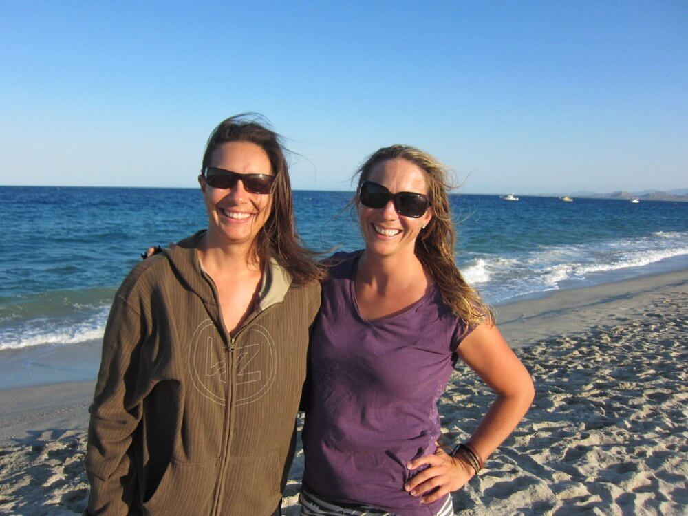 Laurel Eastman and Megan O'Leary from KB4girls Women's Kitesurfing  Foundation