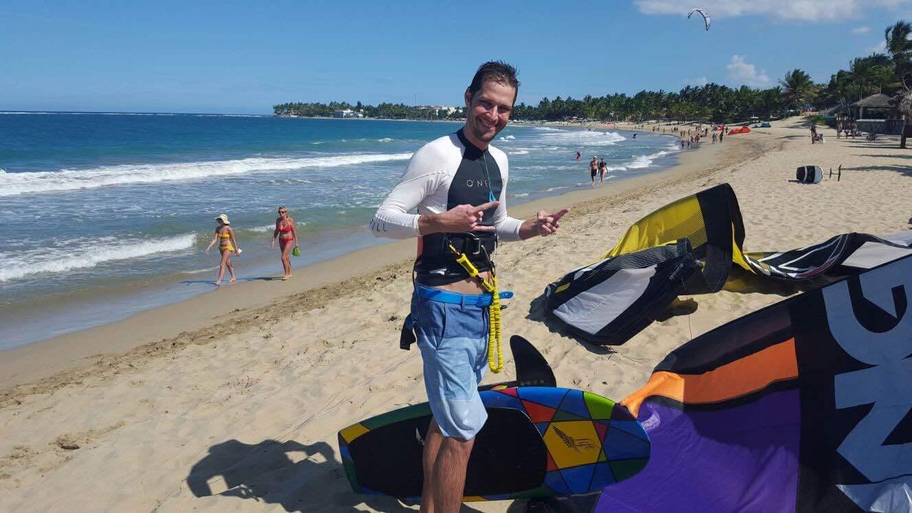 Nick Stuart from Slingshot Kiteboarding Foillboarding Cabarete